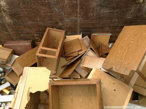 Goodbye cabinets