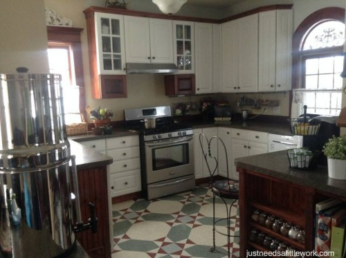 kitchen range area