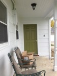 Front porch after painting last fall